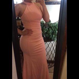Light peach long dress